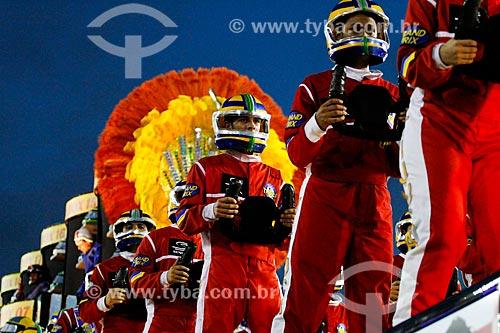 Desfile do Grêmio Recreativo Escola de Samba Unidos da Tijuca - Carro alegórico - Enredo 2014 - Acelera, Tijuca!  - Rio de Janeiro - Rio de Janeiro (RJ) - Brasil