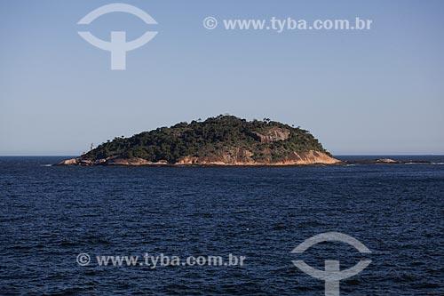 Vista da Ilha de Cotunduba a partir da trilha do Morro da Urca  - Rio de Janeiro - Rio de Janeiro (RJ) - Brasil