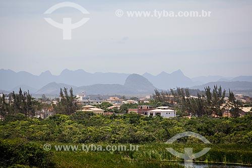 Vista a partir do Mirante da Lagoa do Iriri - também conhecida como Lagoa da Coca-Cola  - Rio das Ostras - Rio de Janeiro (RJ) - Brasil