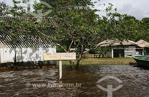 Vista da Vila de São Thomé - às margens do Rio Negro  - Manaus - Amazonas (AM) - Brasil