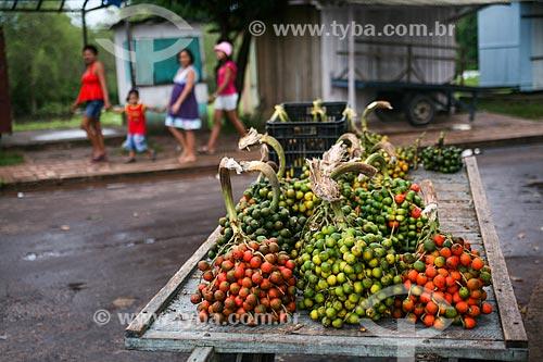 Fruto da pupunha à venda na Ilha do Marajó  - Soure - Pará (PA) - Brasil
