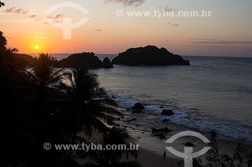 Pôr do sol na Praia do Meio  - Fernando de Noronha - Pernambuco (PE) - Brasil