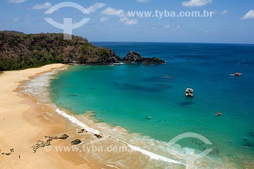 Vista da orla da Praia do Sancho  - Fernando de Noronha - Pernambuco (PE) - Brasil