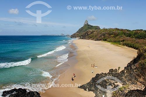 Vista da orla da Praia da Cacimba do Padre  - Fernando de Noronha - Pernambuco (PE) - Brasil