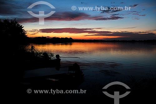 Nascer do sol no Lago Cuniã - Reserva Extrativista do Lago Cuniã  - Porto Velho - Rondônia (RO) - Brasil