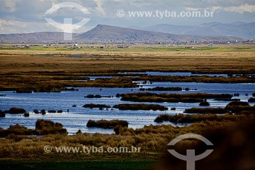 Vista geral do Lago Titicaca  - Bolívia