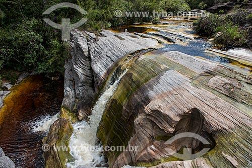 Cachoeira conhecida como Ducha no Parque Estadual do Ibitipoca  - Lima Duarte - Minas Gerais (MG) - Brasil