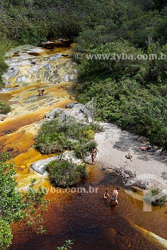 Banhistas na Prainha das Elfas no Parque Estadual do Ibitipoca  - Lima Duarte - Minas Gerais (MG) - Brasil