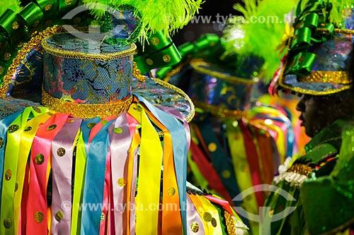 Desfile do Grêmio Recreativo Escola de Samba Império da Tijuca - Foliões - Enredo 2014 - Batuk  - Rio de Janeiro - Rio de Janeiro (RJ) - Brasil