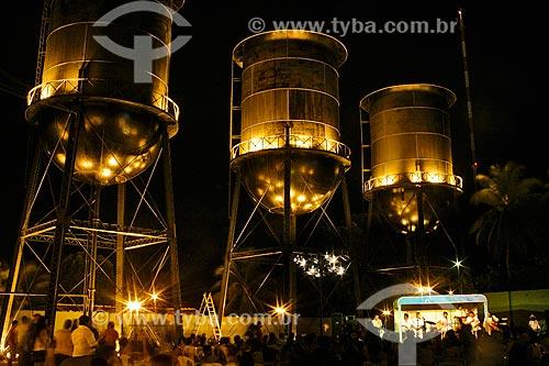 Praça das Três Caixas DAgua à noite  - Porto Velho - Rondônia (RO) - Brasil
