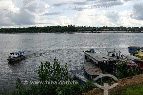 Porto na cidade de Costa Marques com a Bolívia ao fundo  - Costa Marques - Rondônia (RO) - Brasil