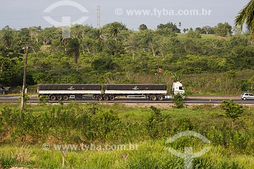 Caminhão graneleiro na Rodovia BR-324 - próximo ao município de São Sebastião do Passé  - São Sebastião do Passé - Bahia (BA) - Brasil