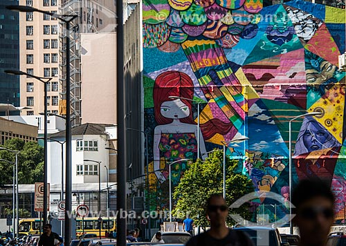 Mural de grafite na Rua Sacadura Cabral  - Rio de Janeiro - Rio de Janeiro (RJ) - Brasil