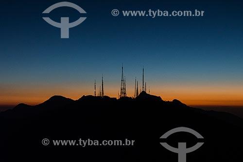 Vista do Morro do Sumaré a partir do mirante do Cristo Redentor  - Rio de Janeiro - Rio de Janeiro (RJ) - Brasil