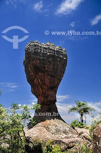 A Taça - formação de arenito do Parque Estadual de Vila Velha  - Ponta Grossa - Paraná (PR) - Brasil