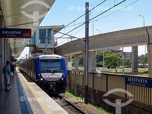 Novo Trem da Trensurb (Empresa de Trens Urbanos de Porto Alegre)  - Porto Alegre - Rio Grande do Sul (RS) - Brasil