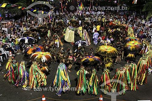 Apresentação do grupo Maracanã de Bumba meu boi durante a festa de São João  - São Luís - Maranhão (MA) - Brasil