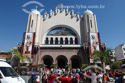 Fachada da Paróquia de São Sebastião dos Frades Capuchinhos durante os festejos do dia de São Sebastião  - Rio de Janeiro - Rio de Janeiro (RJ) - Brasil