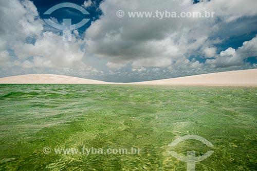 Vista da Lagoa América no Parque Nacional dos Lençóis Maranhenses  - Santo Amaro do Maranhão - Maranhão (MA) - Brasil
