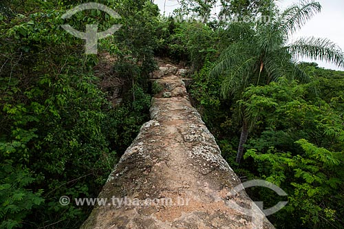 Geossítio Ponte de Pedra - aproximadamente com 96 milhões de anos (Período Cretáceo) - no Geoparque Araripe  - Nova Olinda - Ceará (CE) - Brasil
