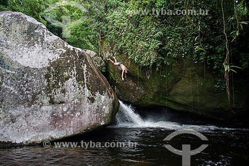 Poço Verde no Rio Soberbo - Parque Nacional da Serra dos Órgãos  - Guapimirim - Rio de Janeiro (RJ) - Brasil