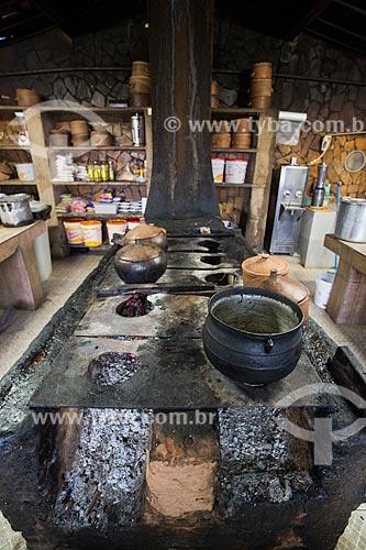 Fogão à lenha do restaurante Coisas do Sertão  - Juazeiro do Norte - Ceará (CE) - Brasil