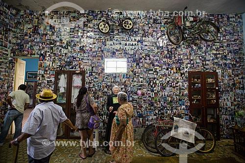 Interior da sala dos milagres no Museu Vivo de Padre Cícero - também conhecido como Casarão do Horto  - Juazeiro do Norte - Ceará (CE) - Brasil