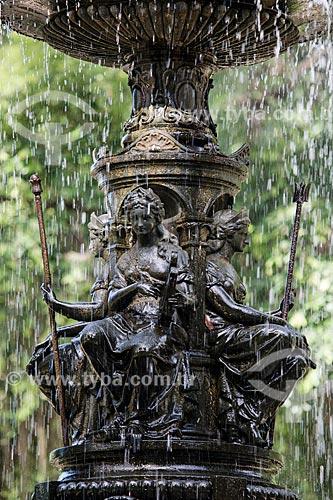 Detalhe do Chafariz das Musas no Jardim Botânico do Rio de Janeiro  - Rio de Janeiro - Rio de Janeiro (RJ) - Brasil