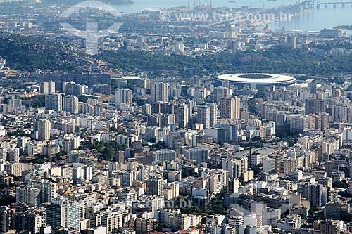 Vista geral do bairro da Tijuca com o Estádio Jornalista Mário Filho - também conhecido como Maracanã  - Rio de Janeiro - Rio de Janeiro (RJ) - Brasil