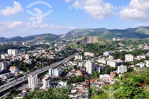 Vista geral da Linha Amarela próximo ao Túnel do Morro do Pau Ferro  - Rio de Janeiro - Rio de Janeiro (RJ) - Brasil
