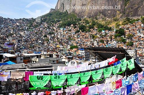 Vista da favela da Rocinha  - Rio de Janeiro - Rio de Janeiro (RJ) - Brasil