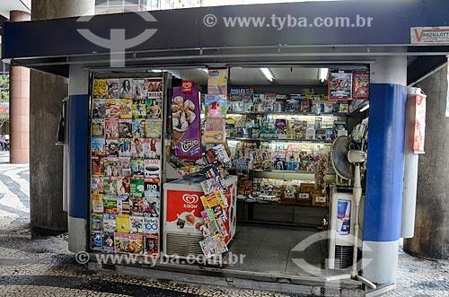 Banca de jornal no centro do Rio de Janeiro  - Rio de Janeiro - Rio de Janeiro (RJ) - Brasil