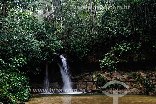 Vista da Cachoeira da Pedra Furada  - Presidente Figueiredo - Amazonas (AM) - Brasil