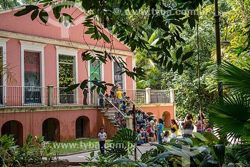 Estudantes visitando o Museu Paraense Emílio Goeldi  - Belém - Pará (PA) - Brasil
