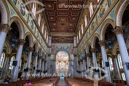 Interior da Basílica de Nossa Senhora de Nazaré  - Belém - Pará (PA) - Brasil