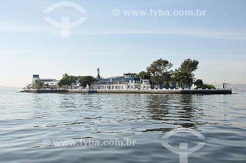 Vista da Ilha das Enxadas - atual sede do Centro de Instrução Almirante Wandenkolk (CIAW)  - Rio de Janeiro - Rio de Janeiro (RJ) - Brasil