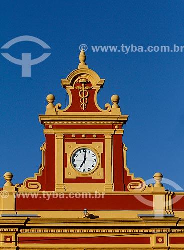 Detalhe da fachada do Mercado Municipal Adolpho Lisboa (1883)  - Manaus - Amazonas (AM) - Brasil