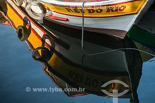 Reflexo de barco no píer do Quadrado da Urca  - Rio de Janeiro - Rio de Janeiro (RJ) - Brasil