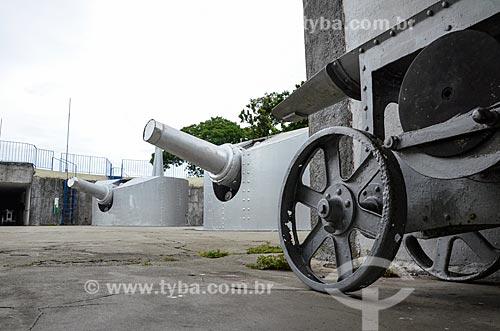 Canhões no Forte Duque de Caxias - também conhecido como Forte do Leme - na Área de Proteção Ambiental do Morro do Leme  - Rio de Janeiro - Rio de Janeiro (RJ) - Brasil