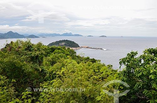 Vista do Pão de Açúcar a partir do mirante do Forte Duque de Caxias - também conhecido como Forte do Leme  - Rio de Janeiro - Rio de Janeiro (RJ) - Brasil