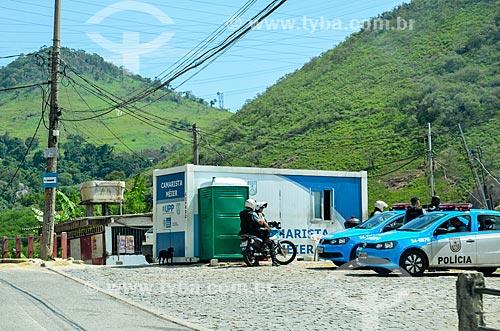 Policiamento na Avenida Menezes Cortes - também conhecida como Estrada Grajaú-Jacarepaguá  - Rio de Janeiro - Rio de Janeiro (RJ) - Brasil