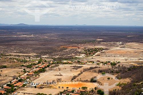 Vista de cima do povoado de Juatama  - Quixadá - Ceará (CE) - Brasil