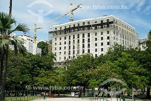 Glória Palace Hotel (1922) durante a reforma  - Rio de Janeiro - Rio de Janeiro (RJ) - Brasil