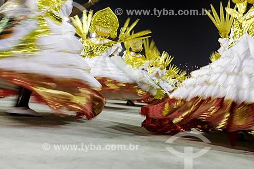 Desfile do Grêmio Recreativo Escola de Samba União do Parque Curicica - Ala das Baianas - Enredo 2015 - Os três tenores... do samba!  - Rio de Janeiro - Rio de Janeiro (RJ) - Brasil