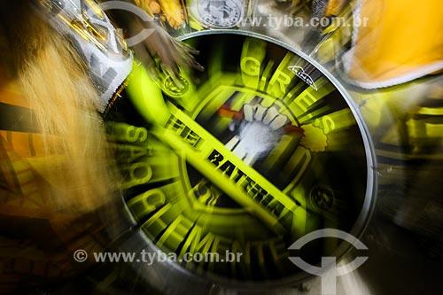 Desfile do Grêmio Recreativo Escola de Samba São Clemente - Bateria - Enredo 2015 - A incrível história do homem que só tinha medo da Matinta Perera, da Tocandira e da Onça Pé de Boi  - Rio de Janeiro - Rio de Janeiro (RJ) - Brasil