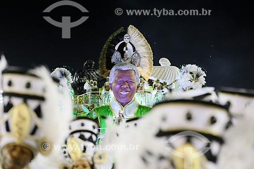Desfile do Grêmio Recreativo Escola de Samba Imperatriz Leopoldinense - Carro alegórico - Enredo 2015 - Axé-Nkenda: Um ritual de liberdade: e que a voz da liberdade seja sempre a nossa voz  - Rio de Janeiro - Rio de Janeiro (RJ) - Brasil