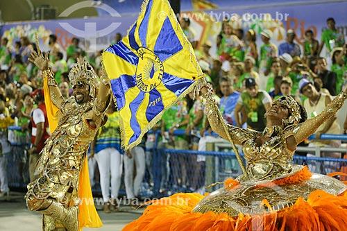 Desfile do Grêmio Recreativo Escola de Samba Unidos da Tijuca - Casal de Mestre-sala e Porta-Bandeira - Enredo 2015 - Um conto marcado no tempo: o olhar suíço de Clóvis Bornay  - Rio de Janeiro - Rio de Janeiro (RJ) - Brasil
