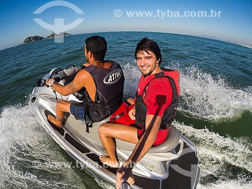 Fotógrafo Vitor Marigo fazendo passeio turístico de Jet Ski próximo às Ilhas Tijucas  - Rio de Janeiro - Rio de Janeiro (RJ) - Brasil