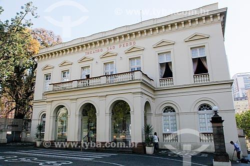 Fachada do Theatro São Pedro  - Porto Alegre - Rio Grande do Sul (RS) - Brasil