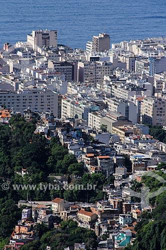 Favela Ladeira dos Tabajaras com Copacabana ao fundo  - Rio de Janeiro - Rio de Janeiro (RJ) - Brasil